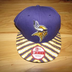 9Fifty Men MN Vikings Snapback Hat Cap NEW